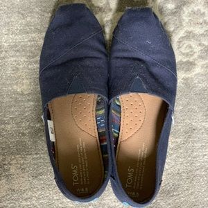 Navy Canvas Toms